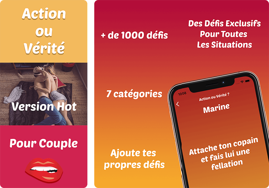 Application action ou vérité hot